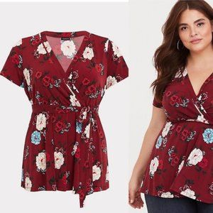 TORRID Floral Baby Doll Top